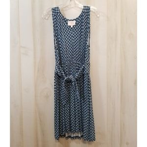 Skies are Blue Print Tie Front Dress Sleeveless M